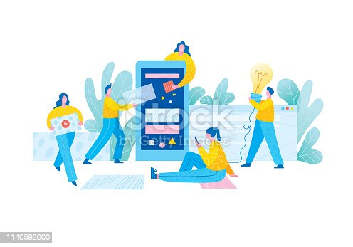 istock Mobile app development team 1140592000
