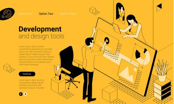 mobile app development tools - projektant stock illustrations