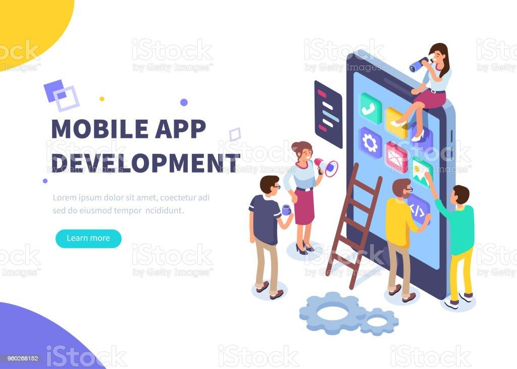 développement d'application mobile - Illustration vectorielle