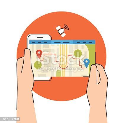 610119450 istock photo Mobile app for gps navigation 487117568