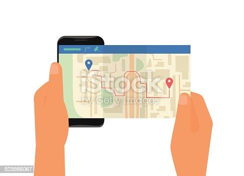 610119450 istock photo Mobile app for gps navigation 523566067