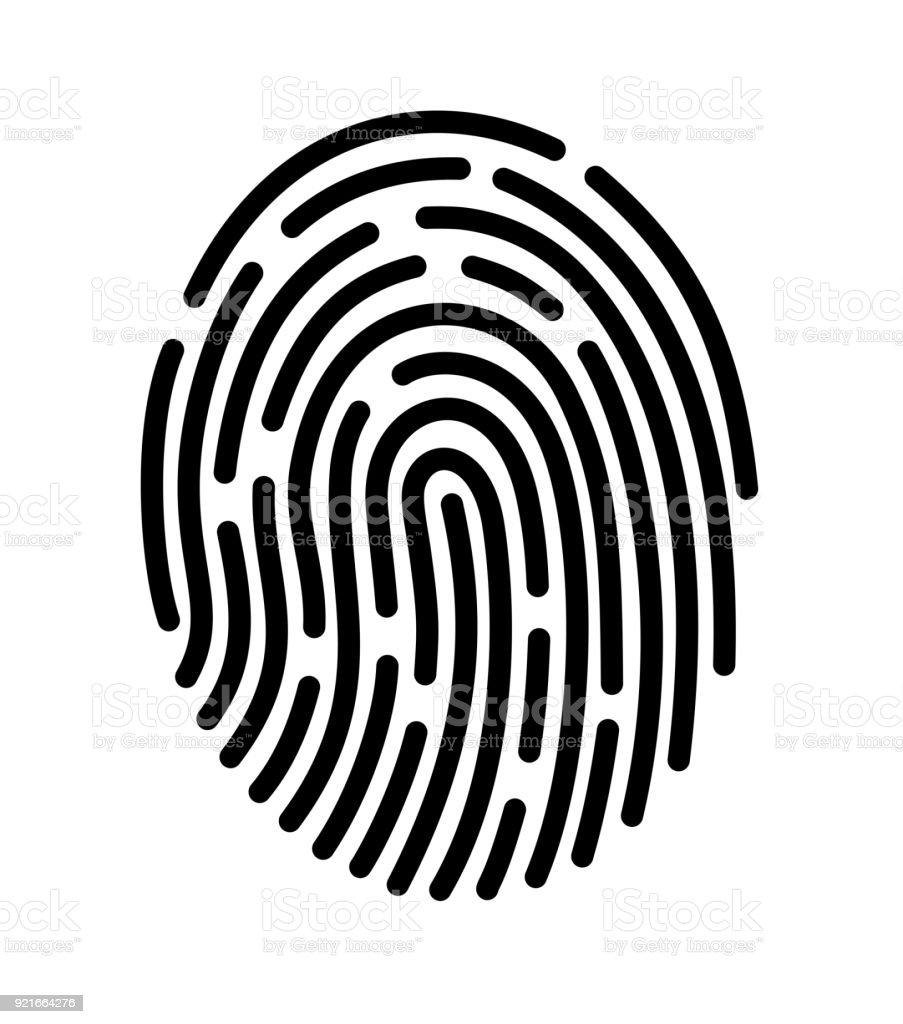Mobile Anwendung für Fingerabdruckerkennung – Vektorgrafik