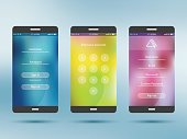 Mobile application UI kit collection set.