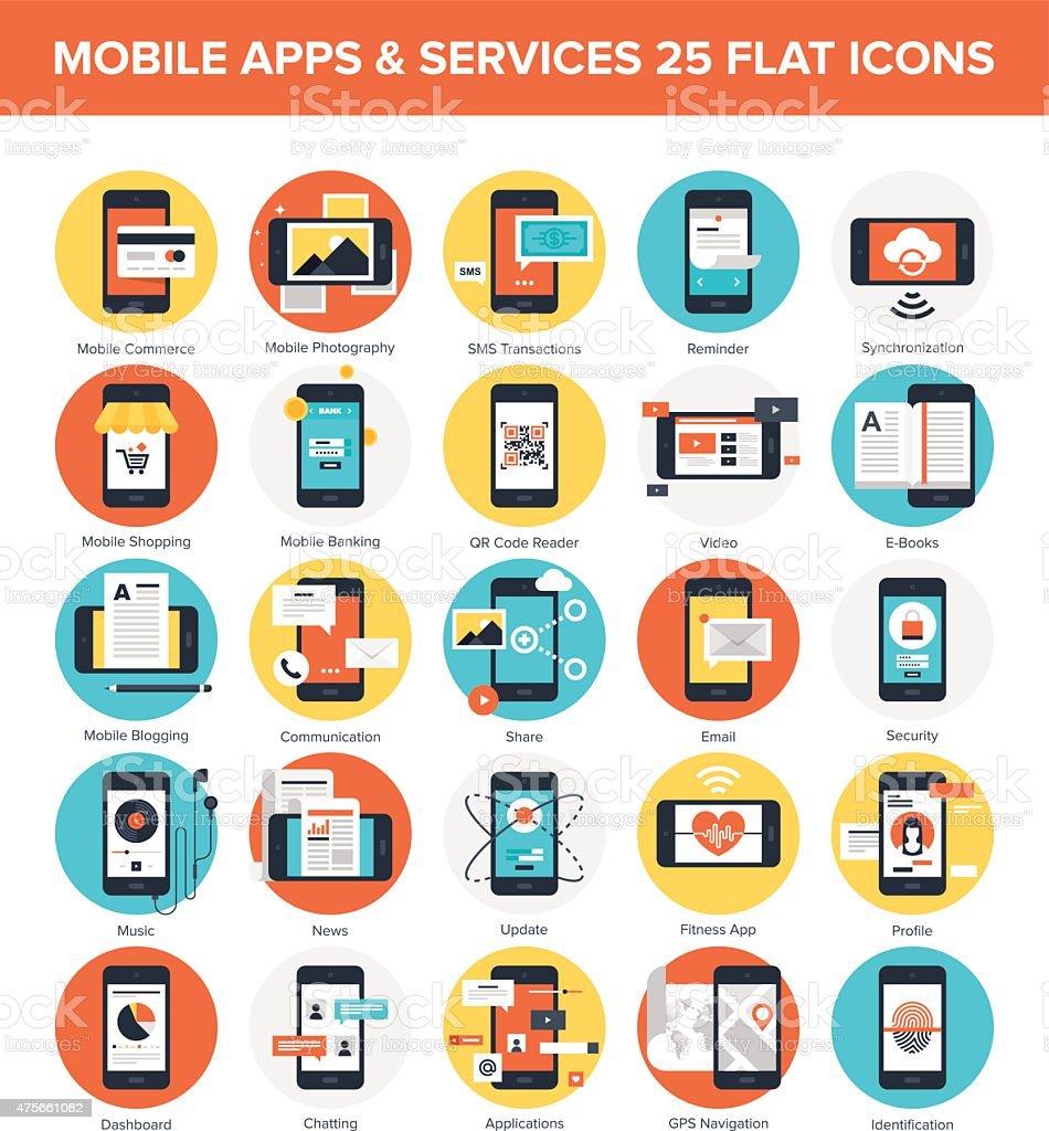 Mobile Applications vector art illustration