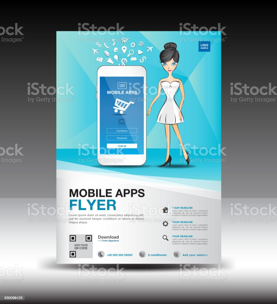 Mobile apps flyer template business brochure flyer design layout mobile apps flyer template business brochure flyer design layout smartphone icon mockup application accmission Choice Image