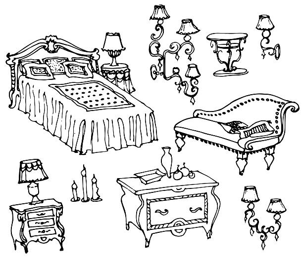 Black And White Artwork For Bedroom Grey Paint Colors Bedroom Art For Kids Bedroom Proper Bedroom Arrangement: Royalty Free Headboard Bed Clip Art, Vector Images