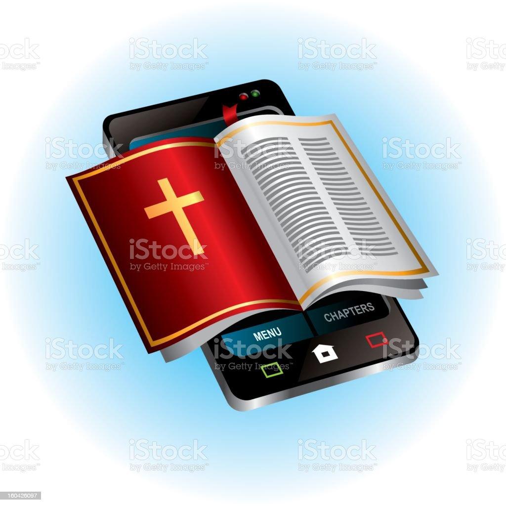 Mobile Bible royalty-free stock vector art