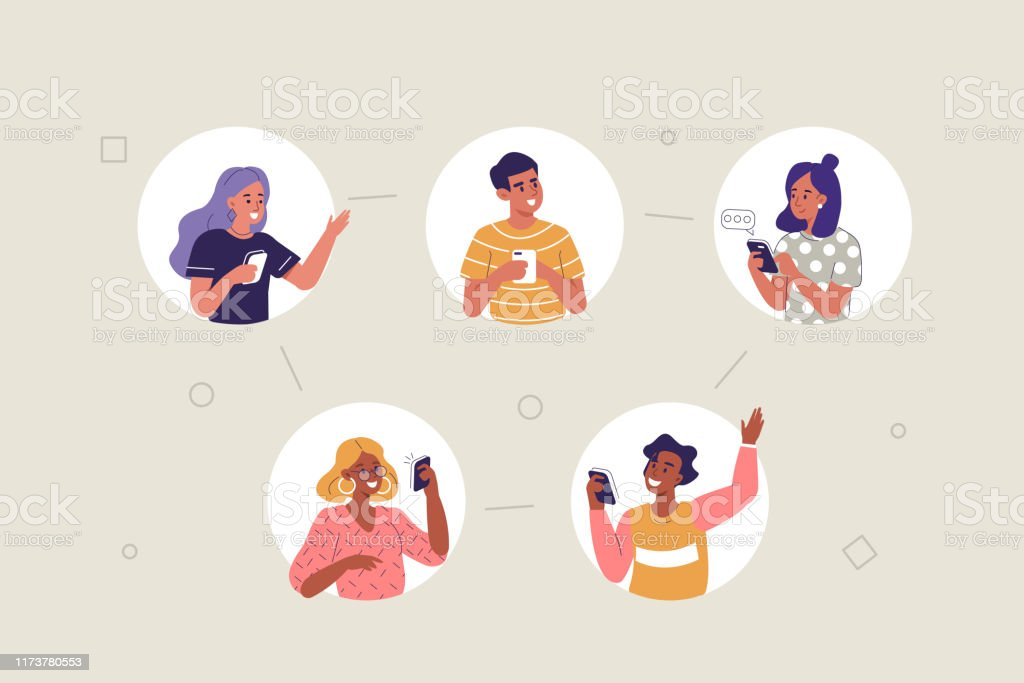 mobile communication - Grafika wektorowa royalty-free (Aplikacja mobilna)