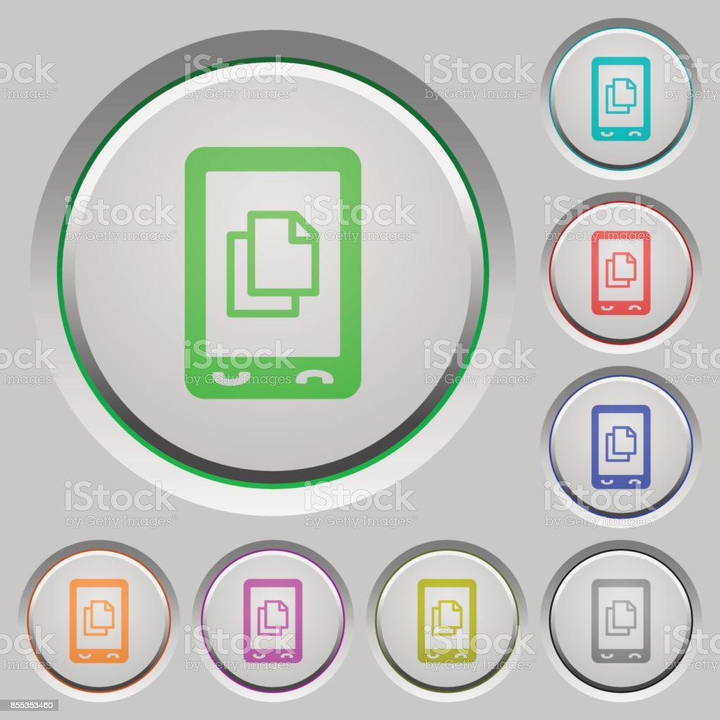 Mobile contact push buttons vector art illustration