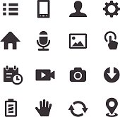 Mobile control Icons Set - Acme Series