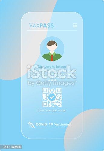 istock Mobile Covid-19 Vaccine Passport - VaxPass 1311169899