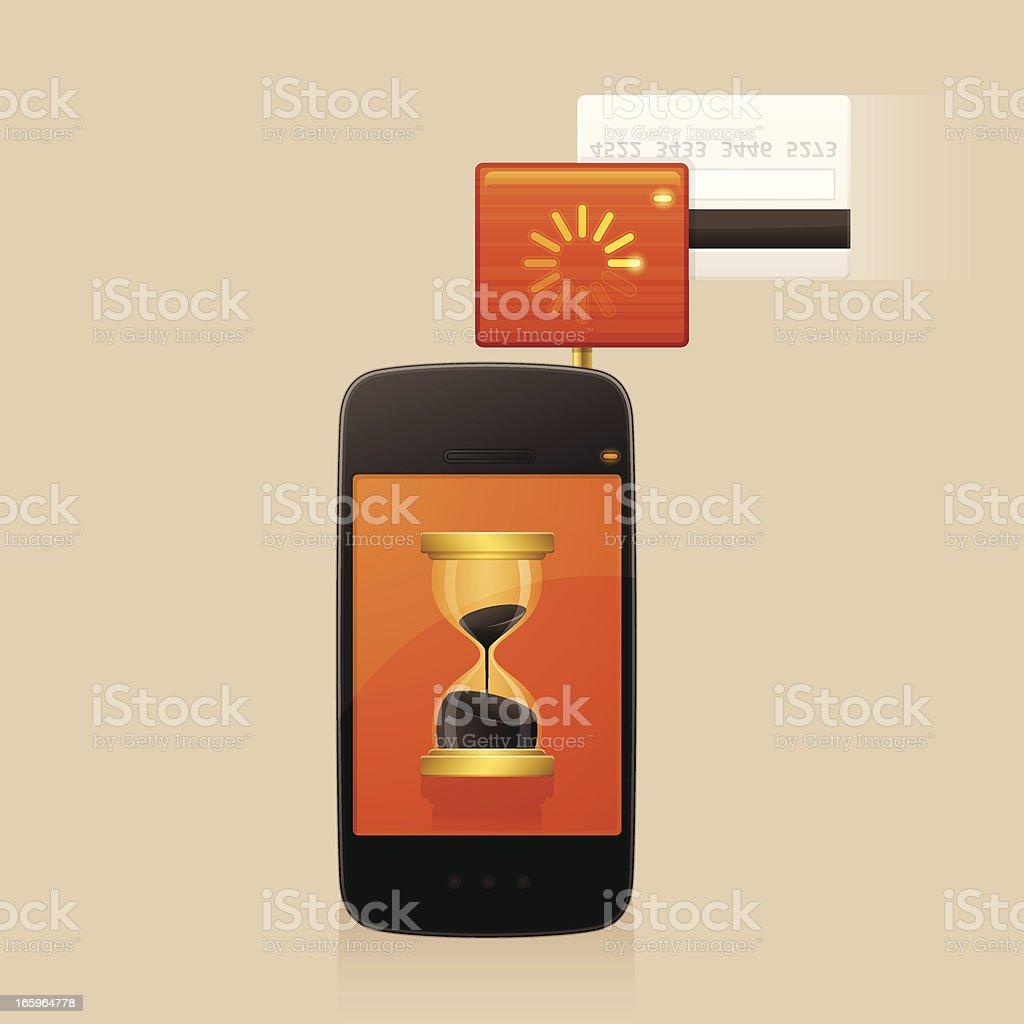 Mobile Lecteur de carte de crédit - Illustration vectorielle
