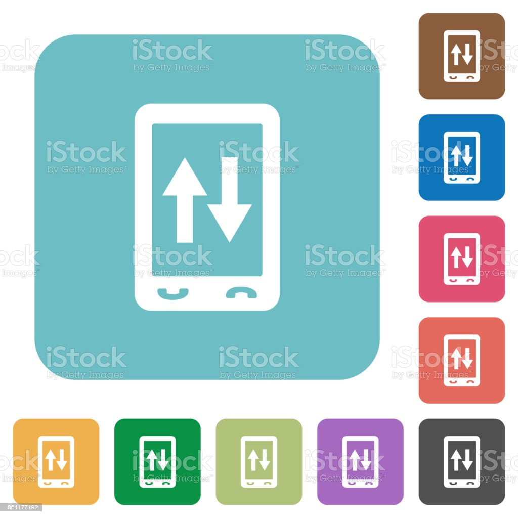 Mobile data traffic rounded square flat icons royalty-free mobile data traffic rounded square flat icons stock vector art & more images of answering