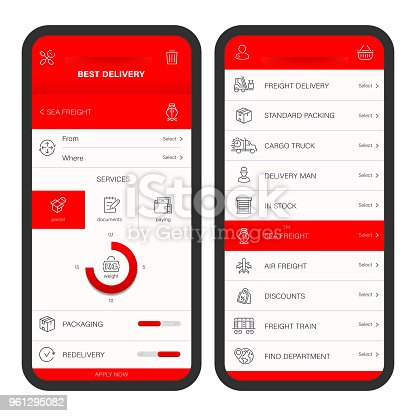 868776578istockphoto Mobile Delivery Editable Stroke Icons 961295082