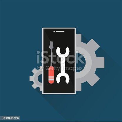 istock Mobile Development Flat Icon 928898726