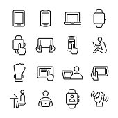 Mobile Device Icons - Line Series
