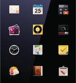 Mobile devices apps icons