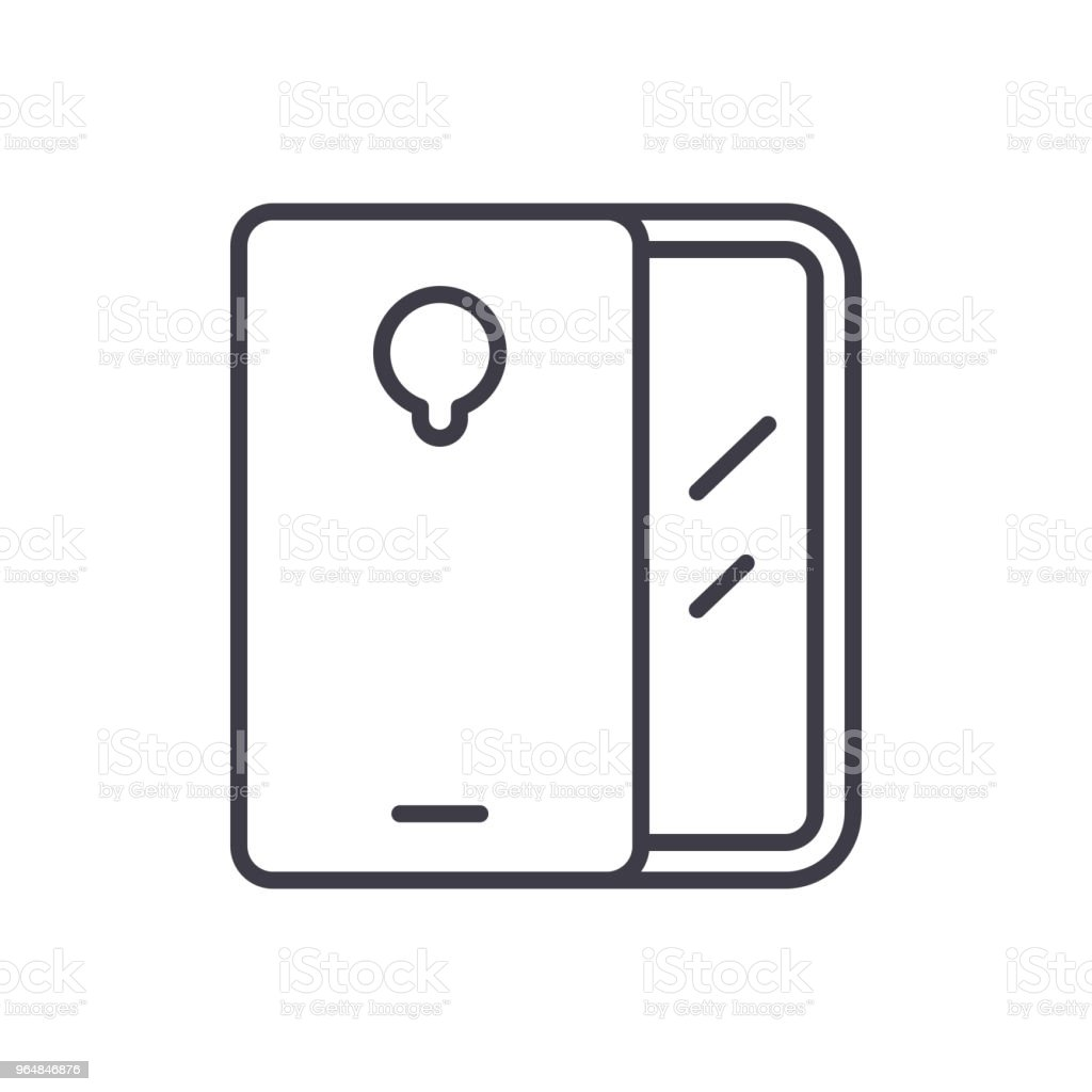 Mobile devices black icon concept. Mobile devices flat  vector symbol, sign, illustration. royalty-free mobile devices black icon concept mobile devices flat vector symbol sign illustration stock vector art & more images of cell