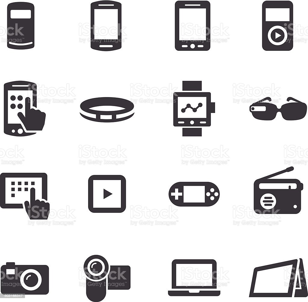 Mobile Devices Icon - Acme Series vector art illustration