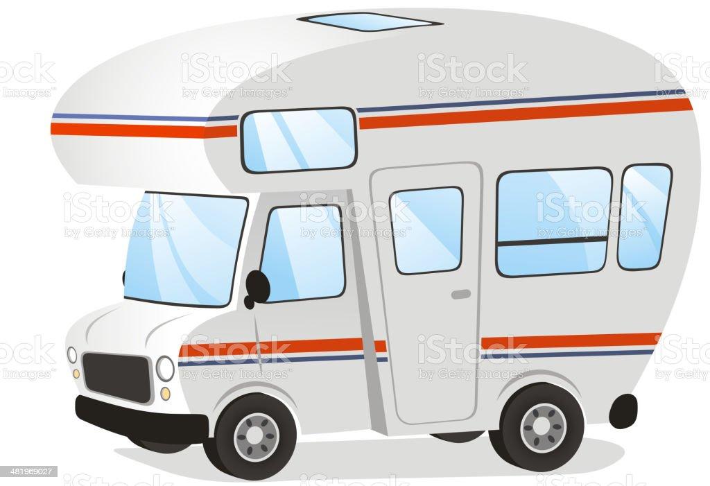 Mobile home Motorhome Caravan Trailer Vehicle royalty-free stock vector art
