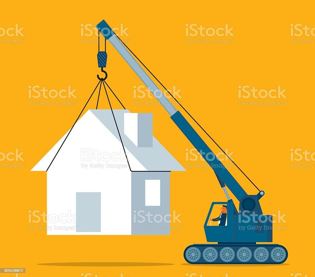 Mobile home vector art illustration