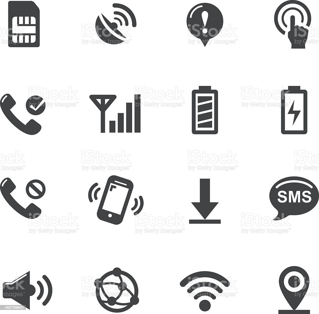 Mobile Icons - Acme Series royalty-free stock vector art