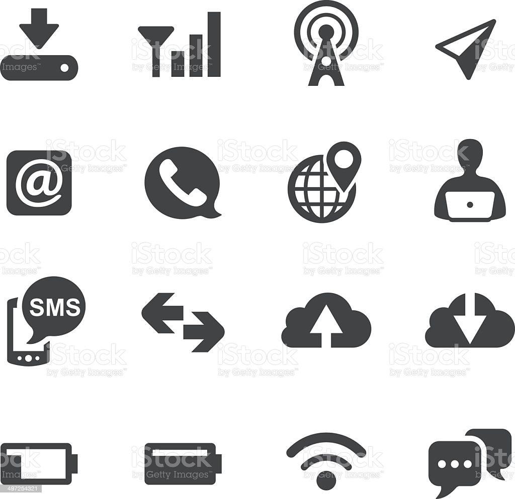 Mobile Icons Set - Acme Series vector art illustration