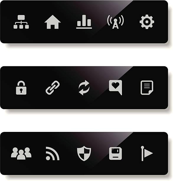 벡터 세트마다 인터넷 아이콘 - home icon stock illustrations