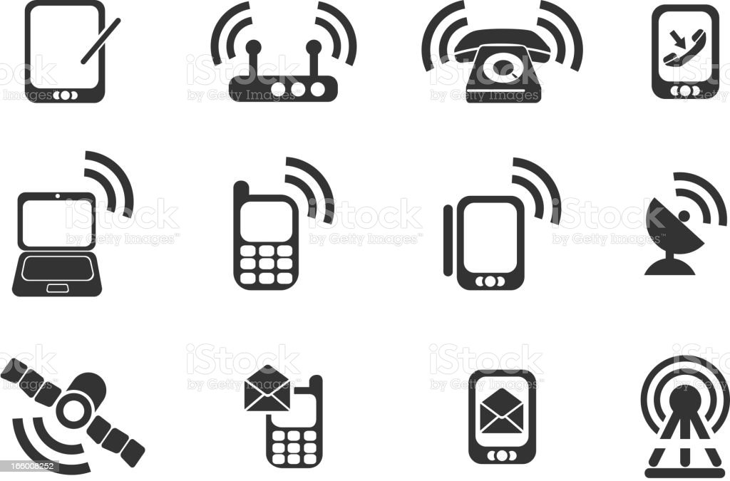 Mobile Icons royalty-free stock vector art