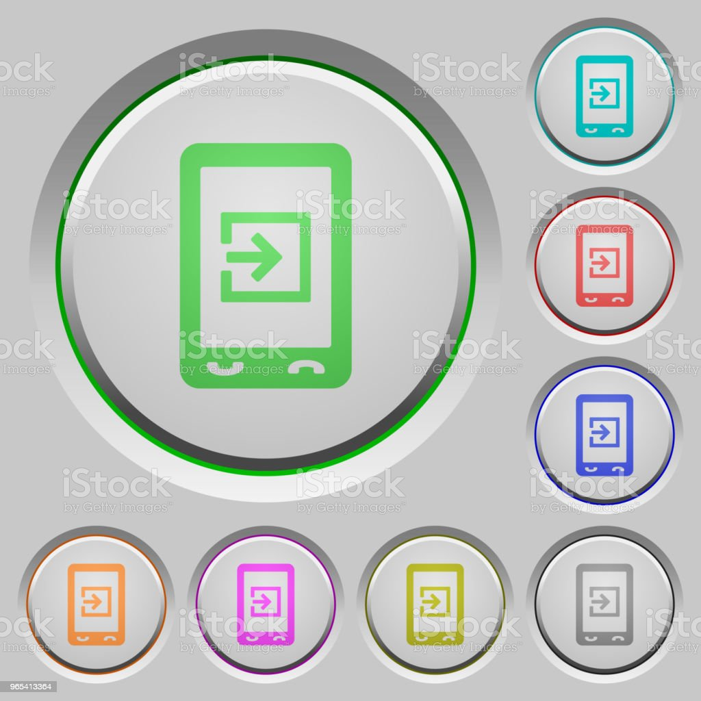 Mobile import data push buttons royalty-free mobile import data push buttons stock vector art & more images of at the edge of