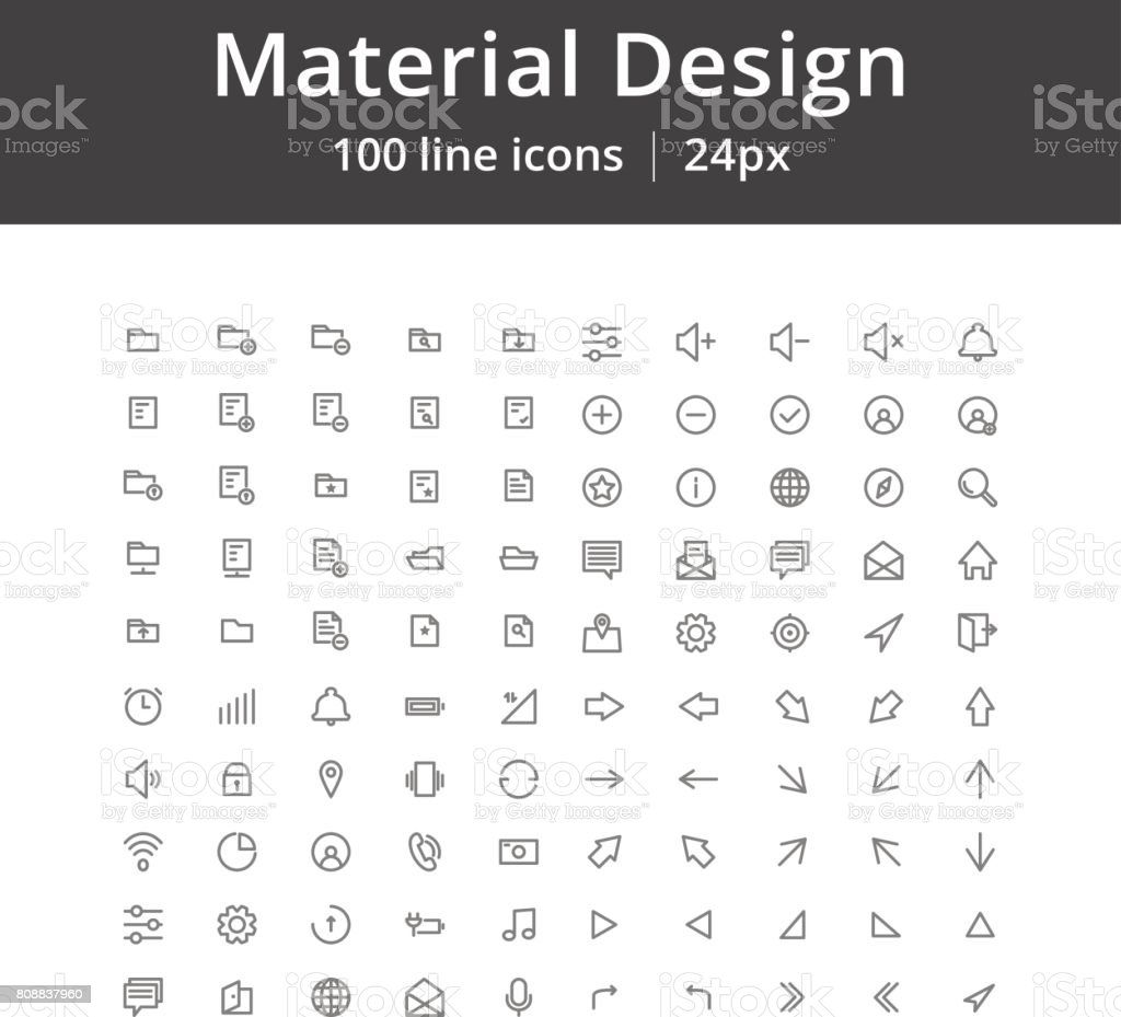 UI Mobile Line Icons vector art illustration
