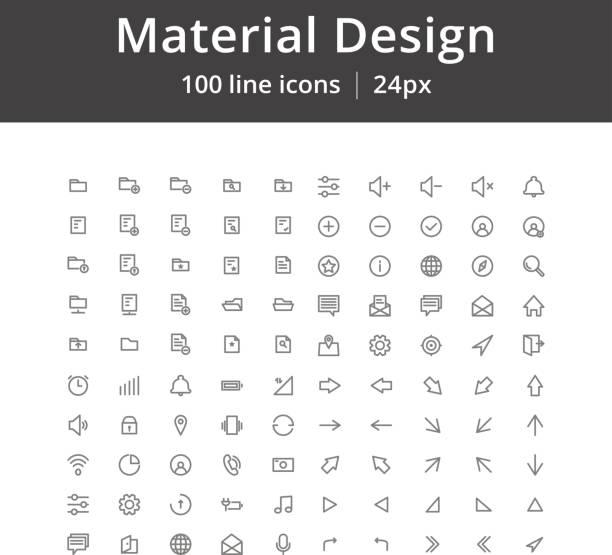 UI Mobile Line Icons vector art illustration
