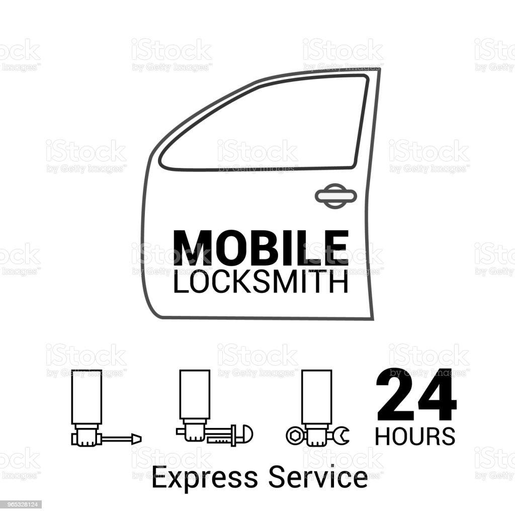 Mobile locksmith icon. Logo in vector. In the lines. mobile locksmith icon logo in vector in the lines - stockowe grafiki wektorowe i więcej obrazów bez ludzi royalty-free