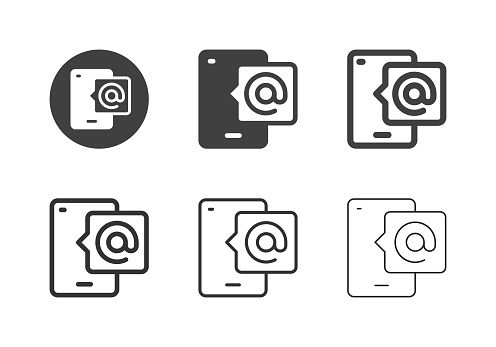 Mobile Mail Icons Multi Series Vector EPS File.