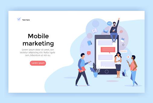Mobile marketing concept illustration.