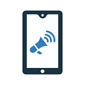 Mobile Marketing icon. Beautiful, meticulously designed icon. Well organized and editable Vector for any uses.