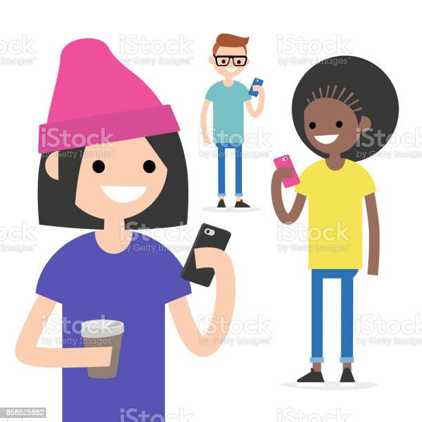 Mobile messenger concept social media a group of young people with vector id858525882?b=1&k=6&m=858525882&s=612x612&h=ihaco8auz2tsh7oav9gfbk4xq ppngjsafsf0k9815m=