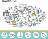 Mobile navigation concept illustration.