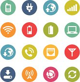 Mobile Network Icons | Circle Series