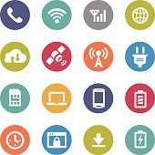Mobile Network Icons - Circle Series