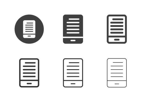 Mobile News Icons - Multi Series vector art illustration