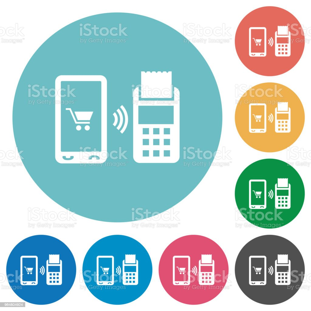 Mobile payment flat round icons royalty-free mobile payment flat round icons stock vector art & more images of banking