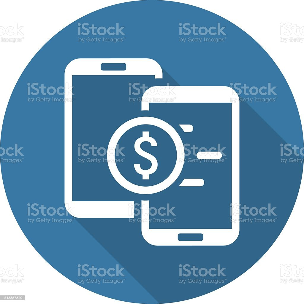 Mobile Payment Icon. Flat Design. vector art illustration