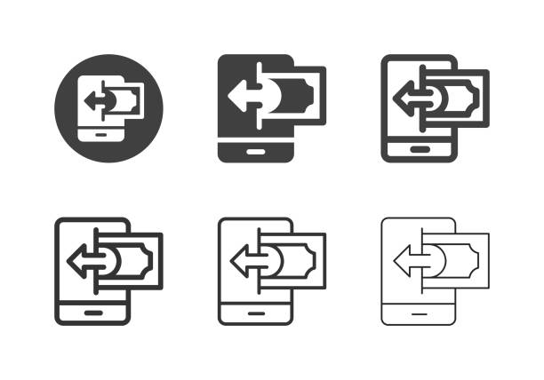 Mobile Payment Receiving Icons - Multi Series vector art illustration