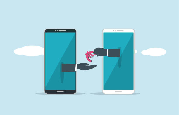 Mobile Payment illustration and painting giving tuesday 2020 stock illustrations
