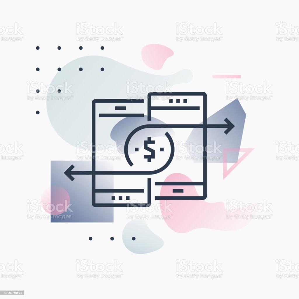 Mobile Payments Futuro Illustration vector art illustration