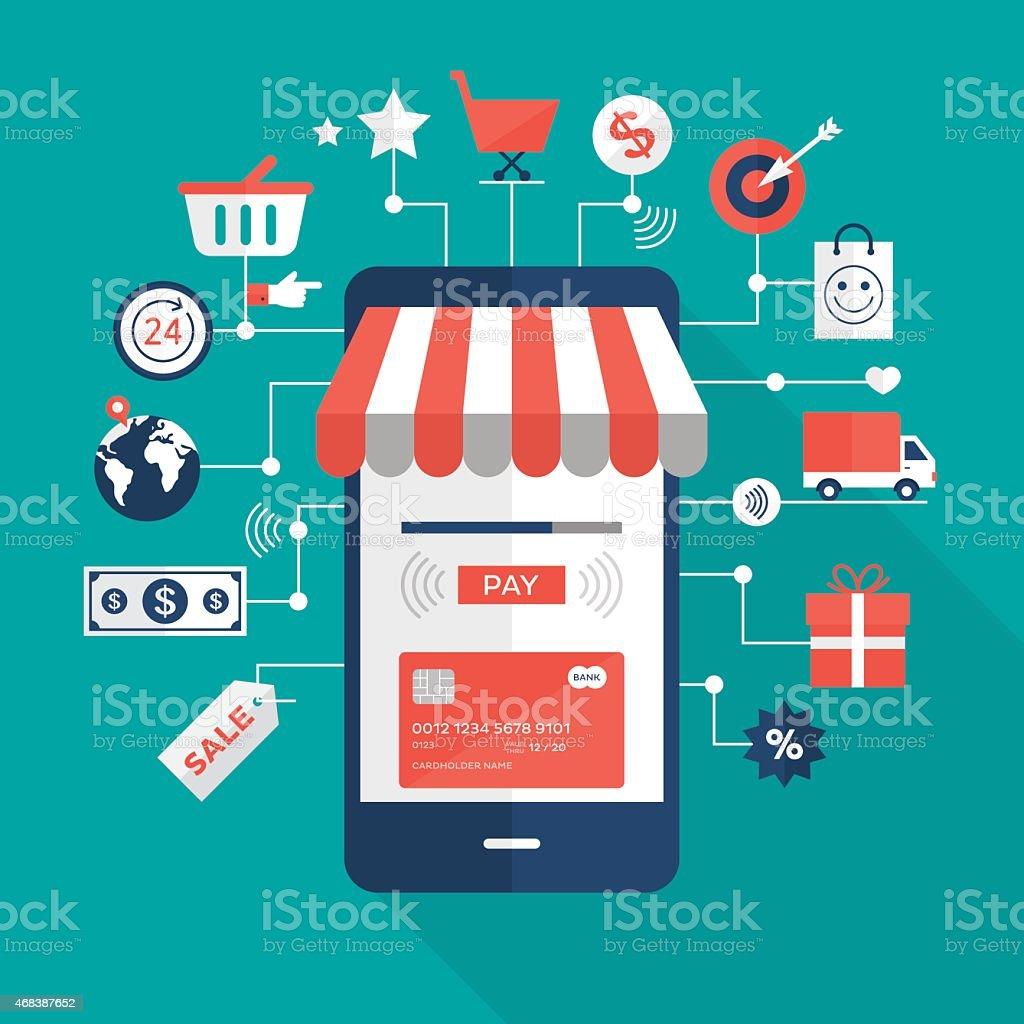 Mobile Zahlungen – Vektorgrafik