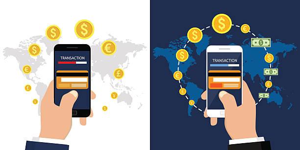 stockillustraties, clipart, cartoons en iconen met mobile payments - mobiele betaling
