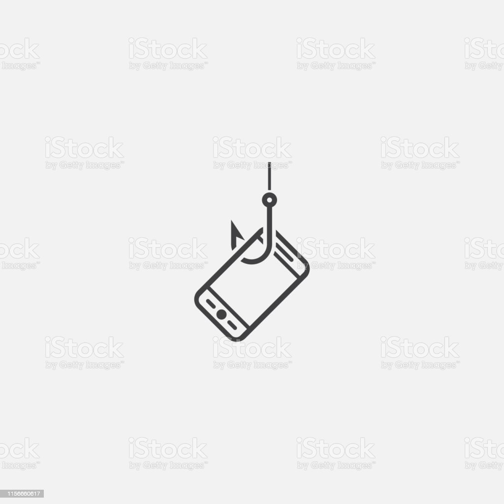 mobile phishing base icon. Simple sign illustration. mobile phishing symbol design. Can be used for web, print and mobile - arte vettoriale royalty-free di Computer