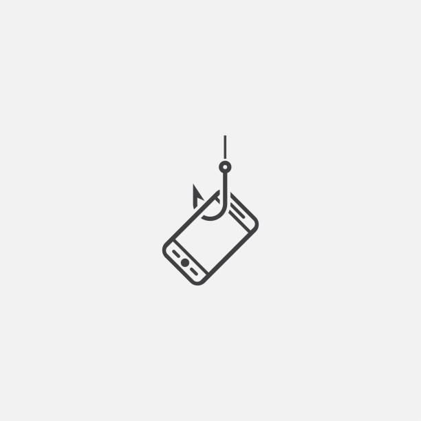 mobile phishing base icon. Simple sign illustration. mobile phishing symbol design. Can be used for web, print and mobile mobile phishing base icon. Simple sign illustration. mobile phishing symbol design. Can be used for web, print and mobile phishing stock illustrations